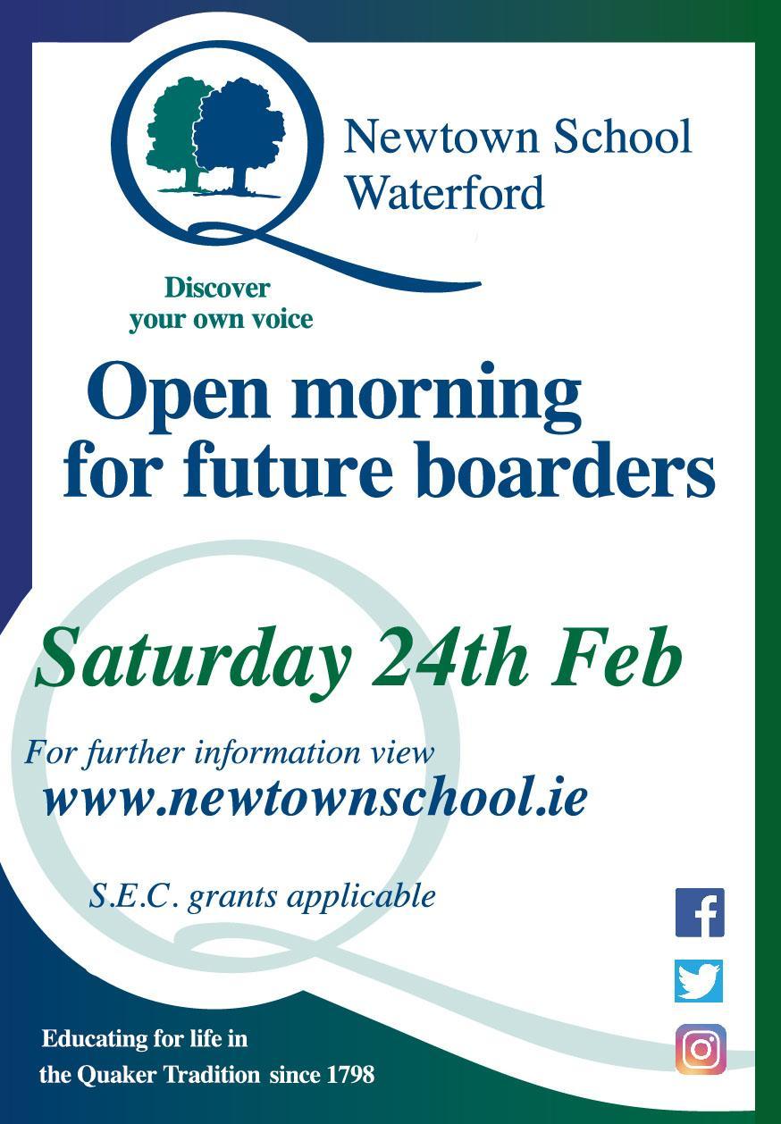 Newtown School Open Morning for Boarders